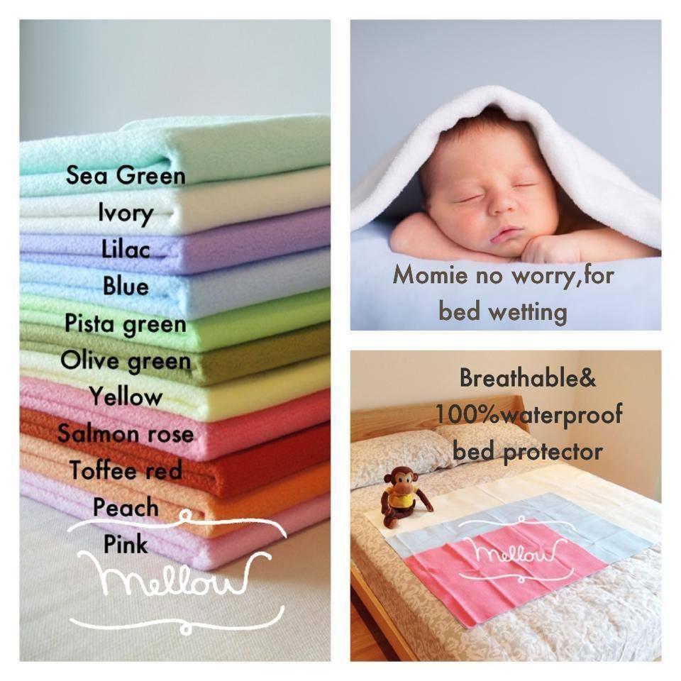 Mellow ผ้ารองที่นอนกันน้ำ สำหรับเด็ก หรือผู้ใหญ่ กันน้ำ 100% ไม่ซึมเปื้อน ผ้านุ่ม สบาย ไม่ระคายเคือง ไม่อับชื้น