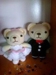 ตุ๊กตาคู่หมีแต่งงาน 6 นิ้ว