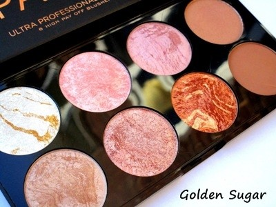 Makeup Revolution Ultra Blush Palette # Golden Sugar พาเลทปัดแก้ม