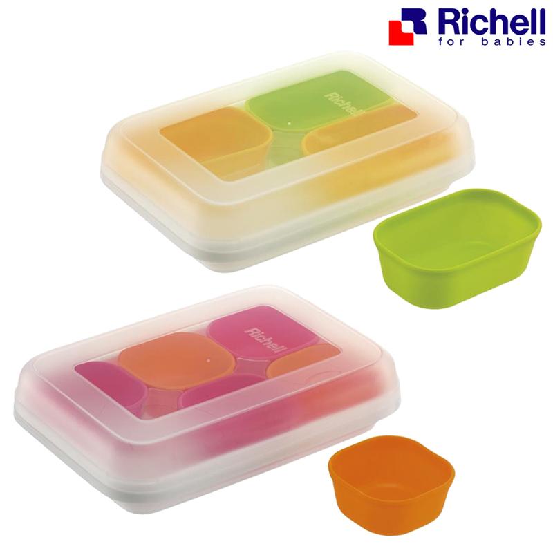 ถ้วยแช่แข็งซิลิโคนแบบมีกล่องเก็บ Richell Dividable Freezing Cup