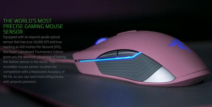 Razer Lancehead TE Quartz Edition Gaming Mouse