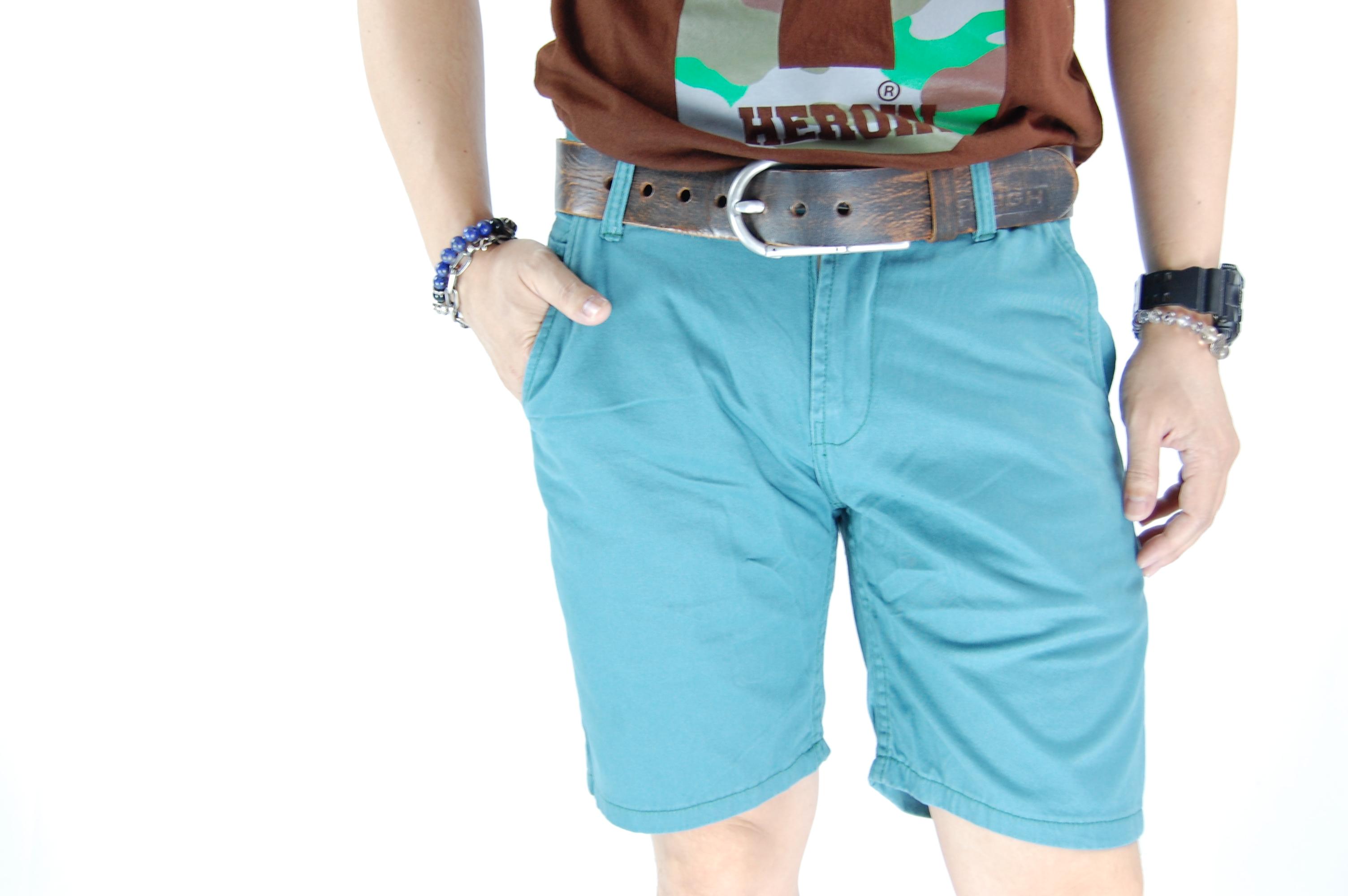 กางเกงขาสั้น สีฟ้ามน 29-6