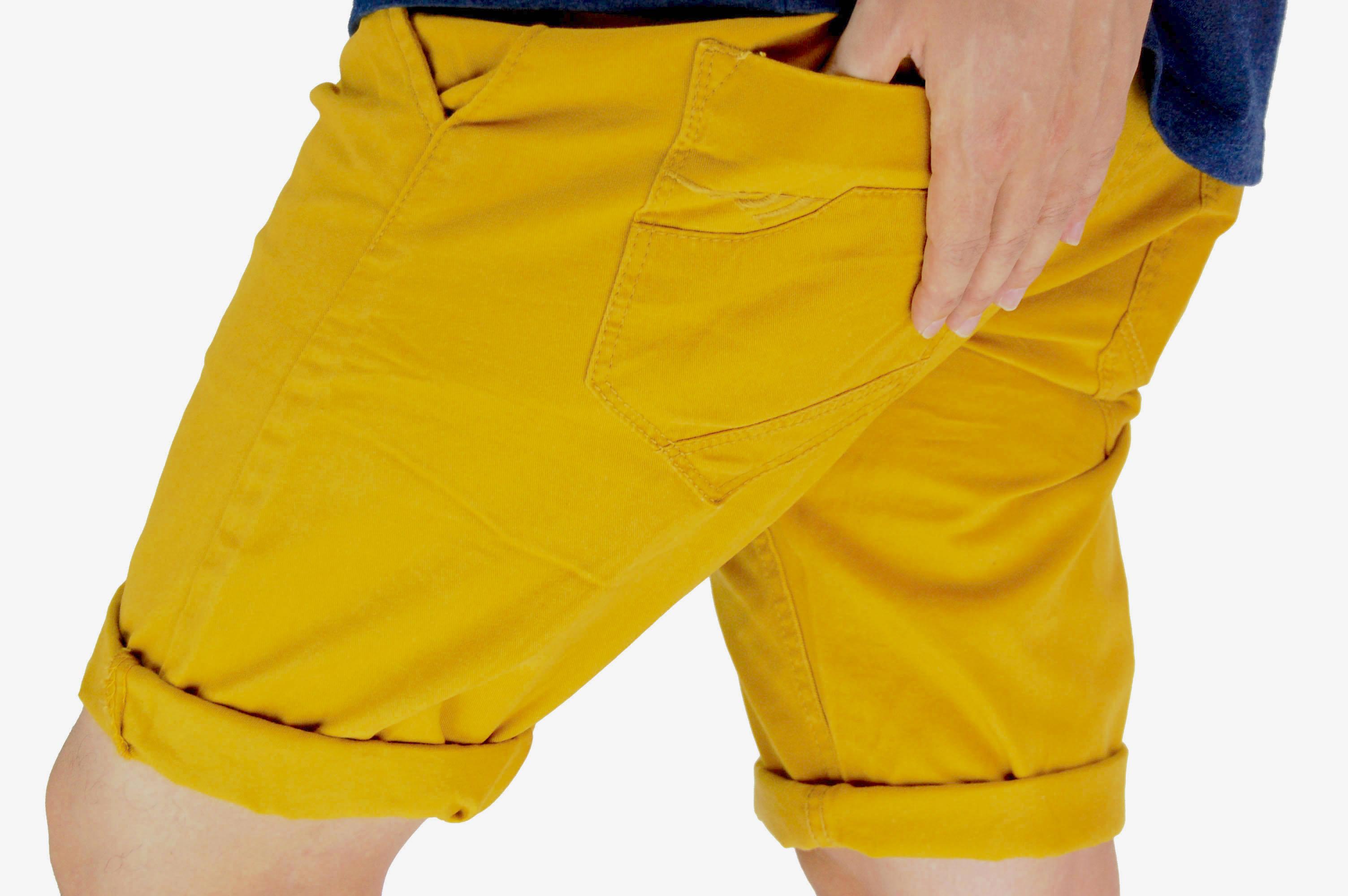 กางเกงขาสั้น สีเหลืองเข้ม NT28-1--5