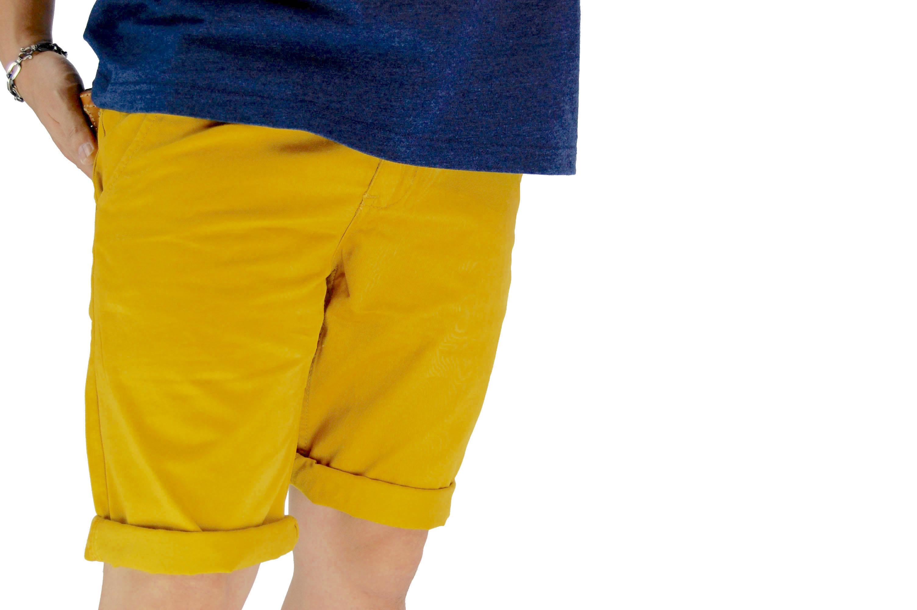 กางเกงขาสั้น สีเหลืองเข้ม NT28-1--3