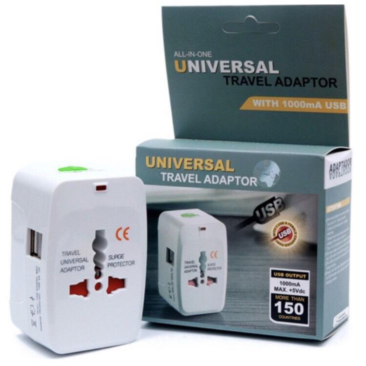 ปลั๊กทั่วโลก แบบมี 2 ช่อง USB (Universal Plug 2 usb)