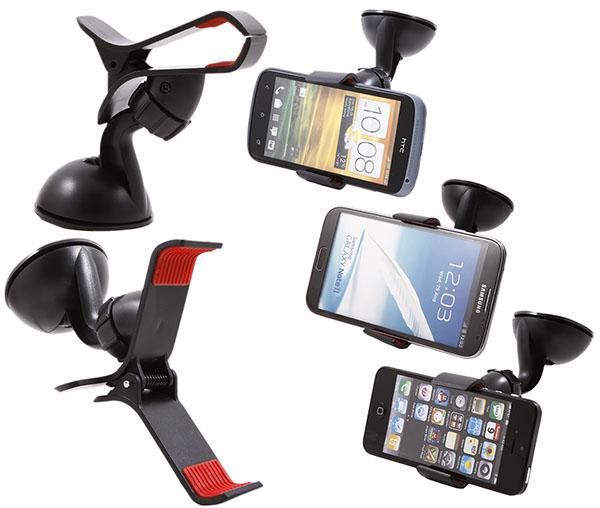 วางมือถือ iphone ในรถ (ปากคีบ ก้ามปู) ฐานจุ๊บสูญญากาศ/จุ๊บติดกระจก