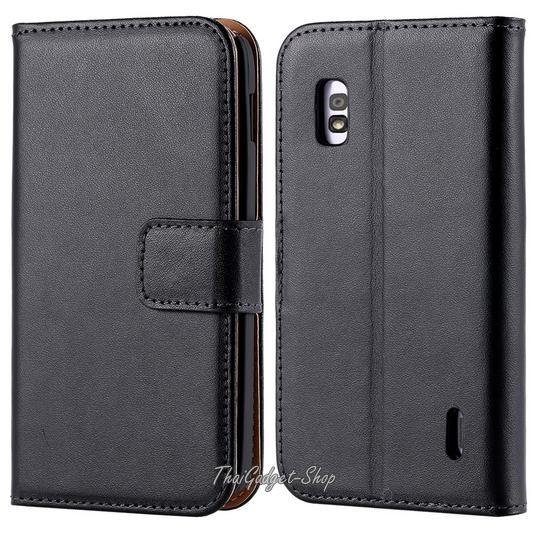 (พร้อมส่ง) เคส LG Nexus 4 (Luxury Wallet With Card Slot Stand)