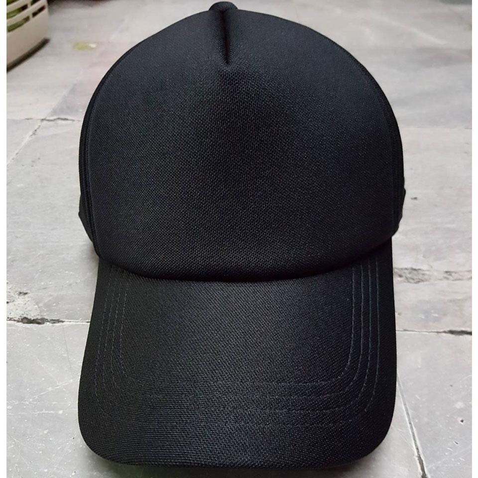 หมวกแก็ปซิปหลัง หน้าฟองน้ำหนา ดำ กรมท่า กากี