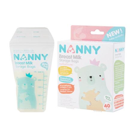 Nannyถุงเก็บน้ำนมแม่ 40 ชิ้น ขนาด 8 ออนซ์