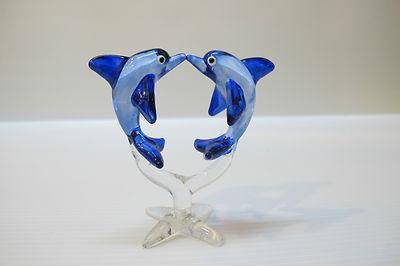 ปลาโลมาแก้วเป่า Glass Figurine Dolphin