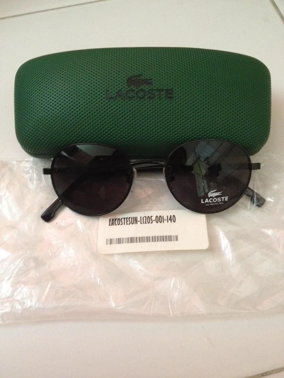 แว่นตากันแดด Lacoste พร้อมส่งที่ไทย 49 mm พร้อมกล่องแว่น สินค้าลดราคาพิเศษ