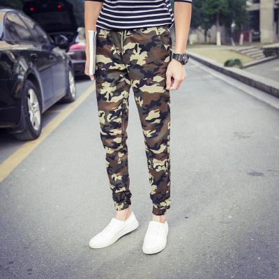 กางเกงขายาวเกาหลี ลายพรางทหาร จั้มปลายขา มี2สี