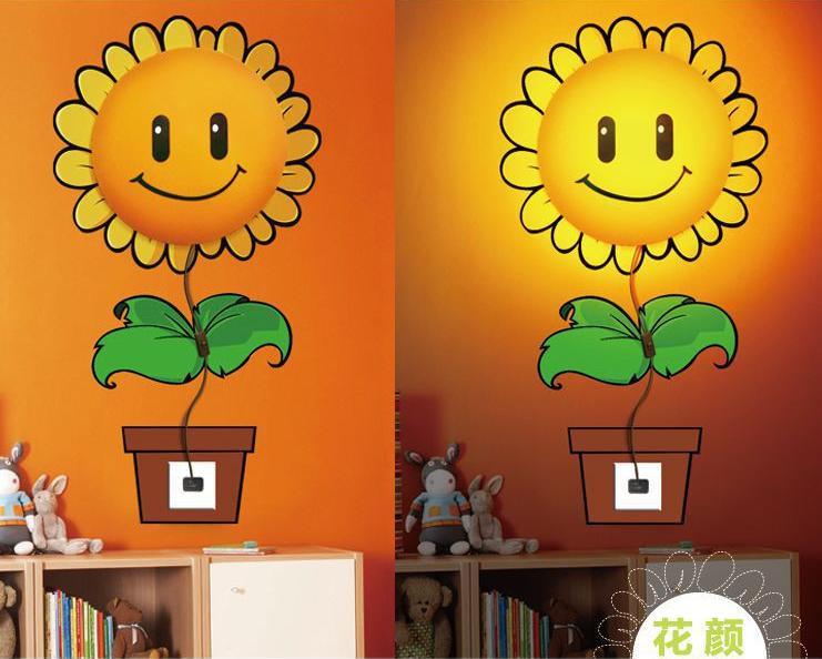โคมไฟติดผนัง 3 มิติ ดอกทานตะวัน