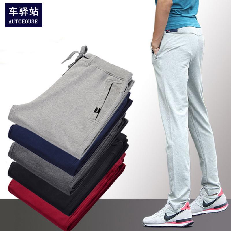 Pre Order กางเกงวอร์มขายาว ออกกำลังกาย ทรงเท่ห์ ดีไซน์ Sport มี5สี