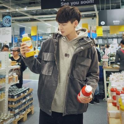 เสื้อแจ็คเก็ตแขนยาวเกาหลี แต่งกระเป๋าเสื้อใหญ่2ข้าง มี2สี