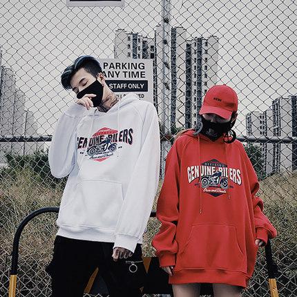 เสื้อคู่รักเกาหลี เสื้อฮู้ดแจ็คเก็ต แนวOversize พิมพ์ลาย มี3สี