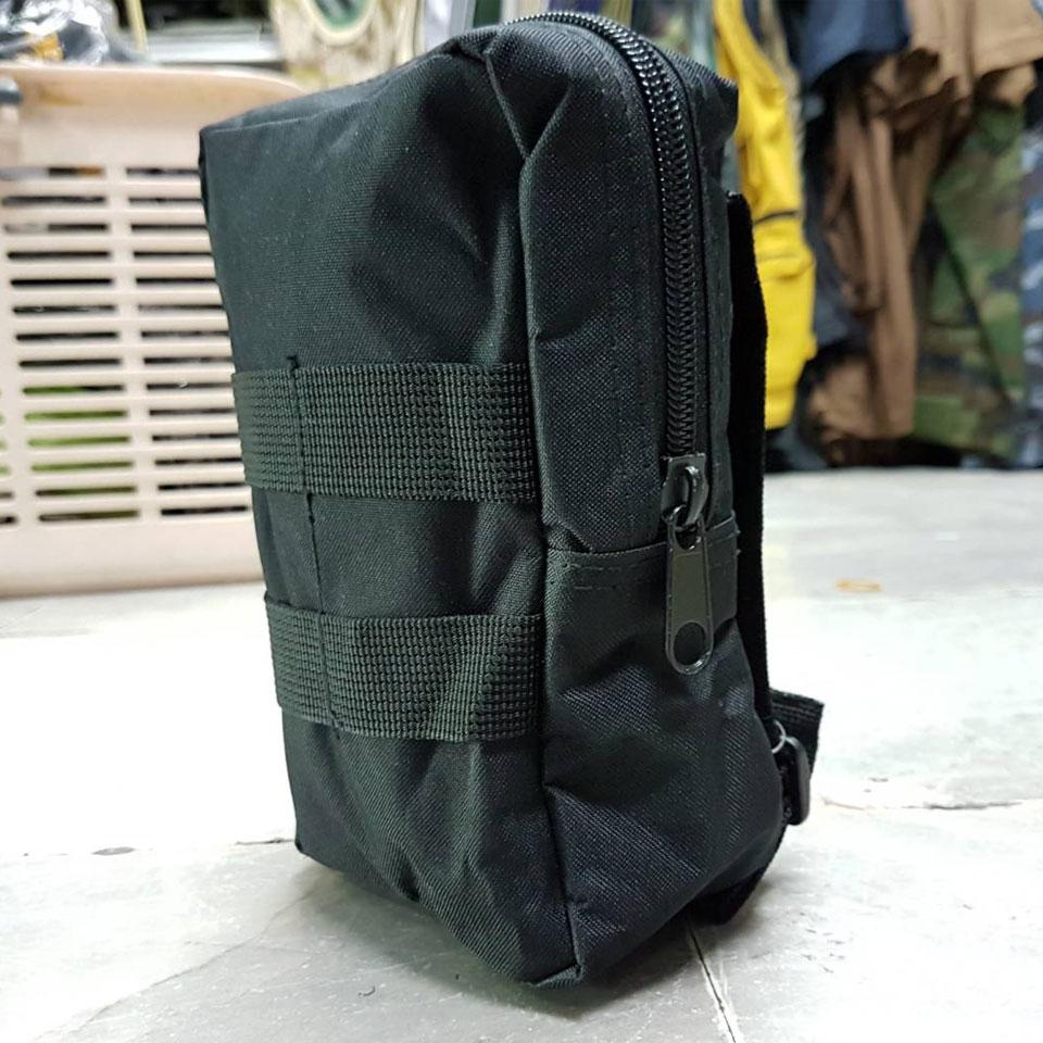 กระเป๋าสี่เหลี่ยม ซิป ดำ
