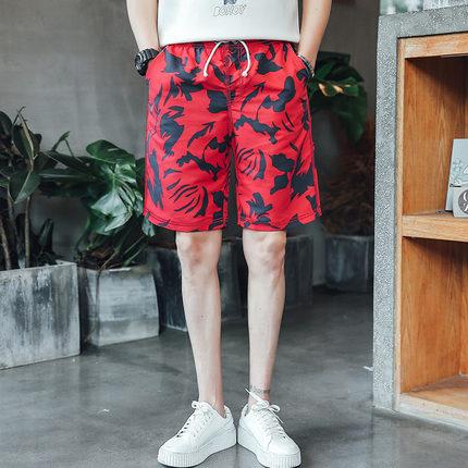 กางเกงขาสั้นเกาหลี แนวชายหาด มี2สี