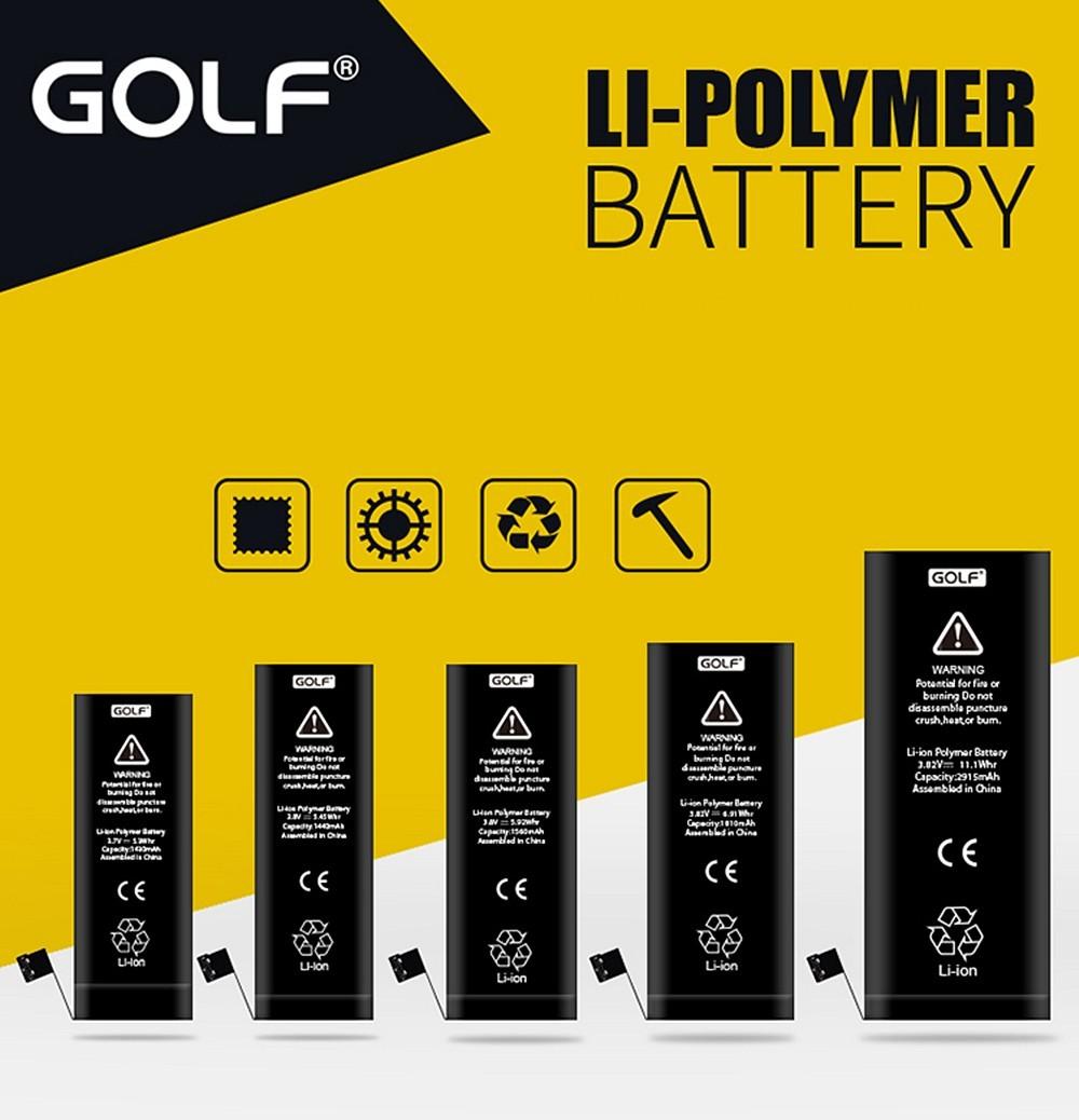 Battery iPhone ยี่ห้อ GOLF สำหรับ iPhone 4s/ iPhone 5/5s/iPhone6/6+ แท้ 100%