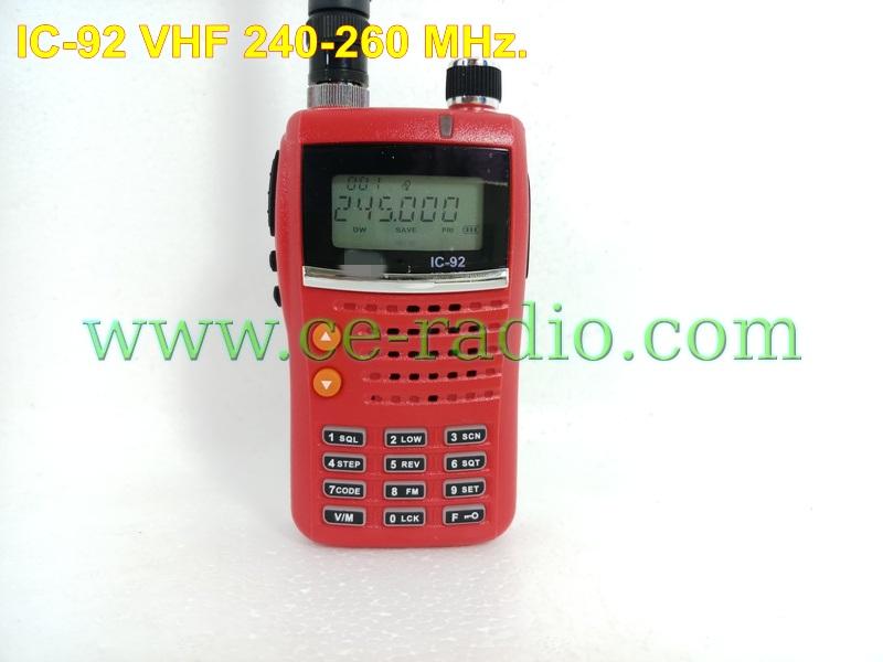 IC-92 วิทยุสื่อสารเครื่องแดง 240-260 MHz. 80ช่องหลัก