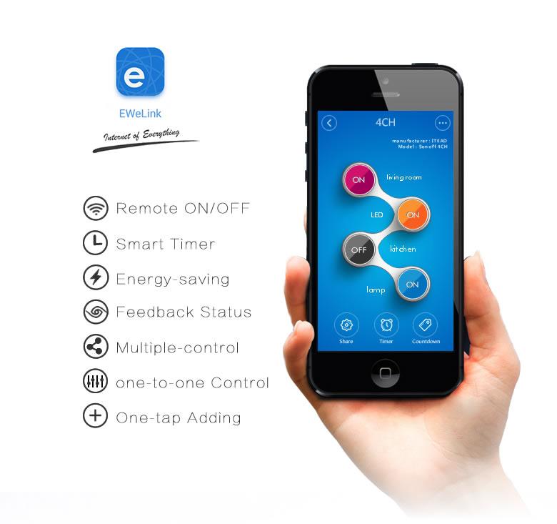Sonoff 4CH WiFi Switch Smart Plug For Smart Home ITEAD STUDIO