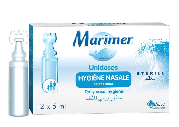 (ซื้อ3 ราคาพิเศษ) Marimer Unidoses 12 Pieces มาริเมอร์ แบบหยด เหมาะสำหรับใช้ในเด็กเล็ก ใช้เพื่อทำความสะอาดโพรงจมูก ใช้เพื่อเพิ่มความชุ่มชื้นให้กับเยื่อบุจมูก