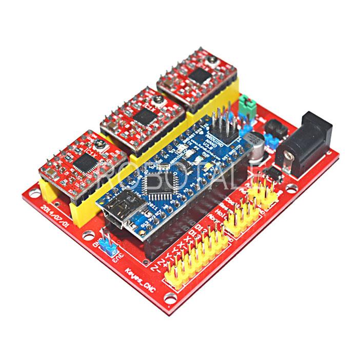 CNC Shield V4 Kit (CNC Shield + Motor Drive + Nano + สาย USB)