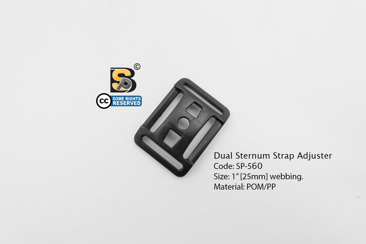 """เข็มขัด 1"""" 4 ช่อง / Dual Sternum Strap Adjuster"""