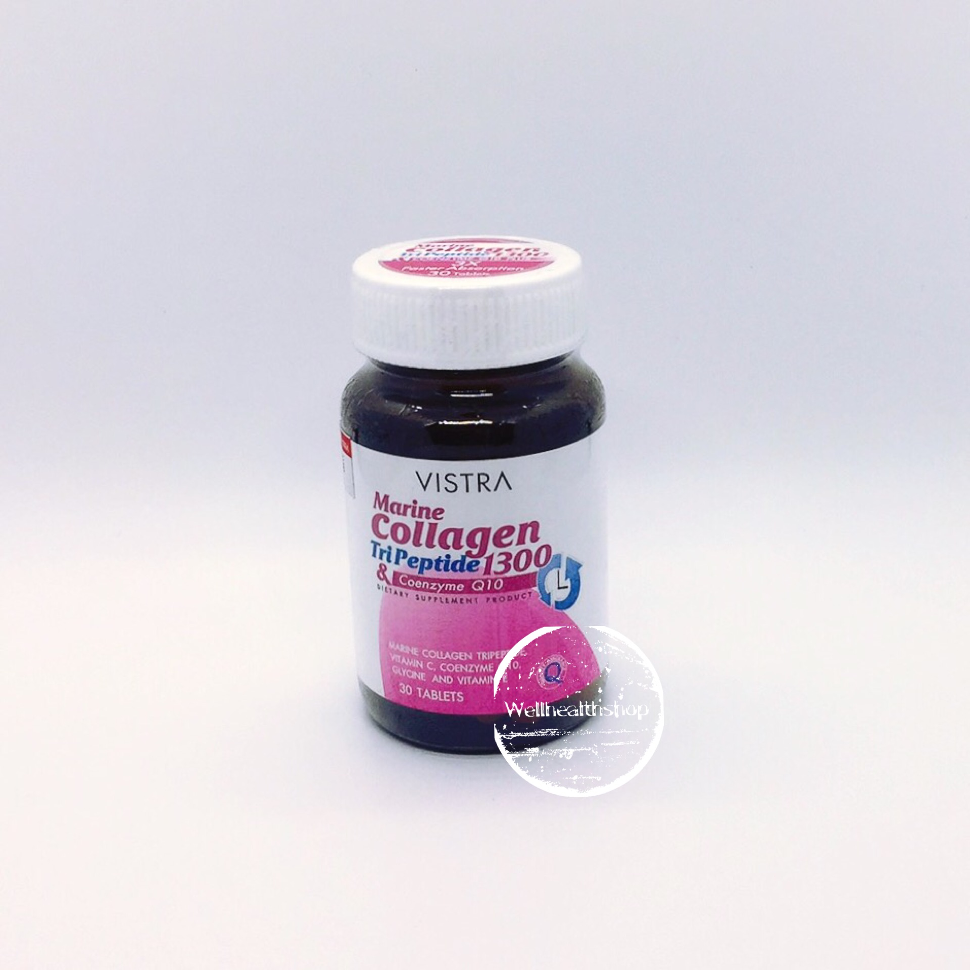 Vistra Marine Collagen Tripeptide 1300 & Coenzyme Q10 วิสทร้า มารีน คอลลาเจน ไตรเปปไทด์ แอนด์ โคเอ็นไซม์ คิวเท็น