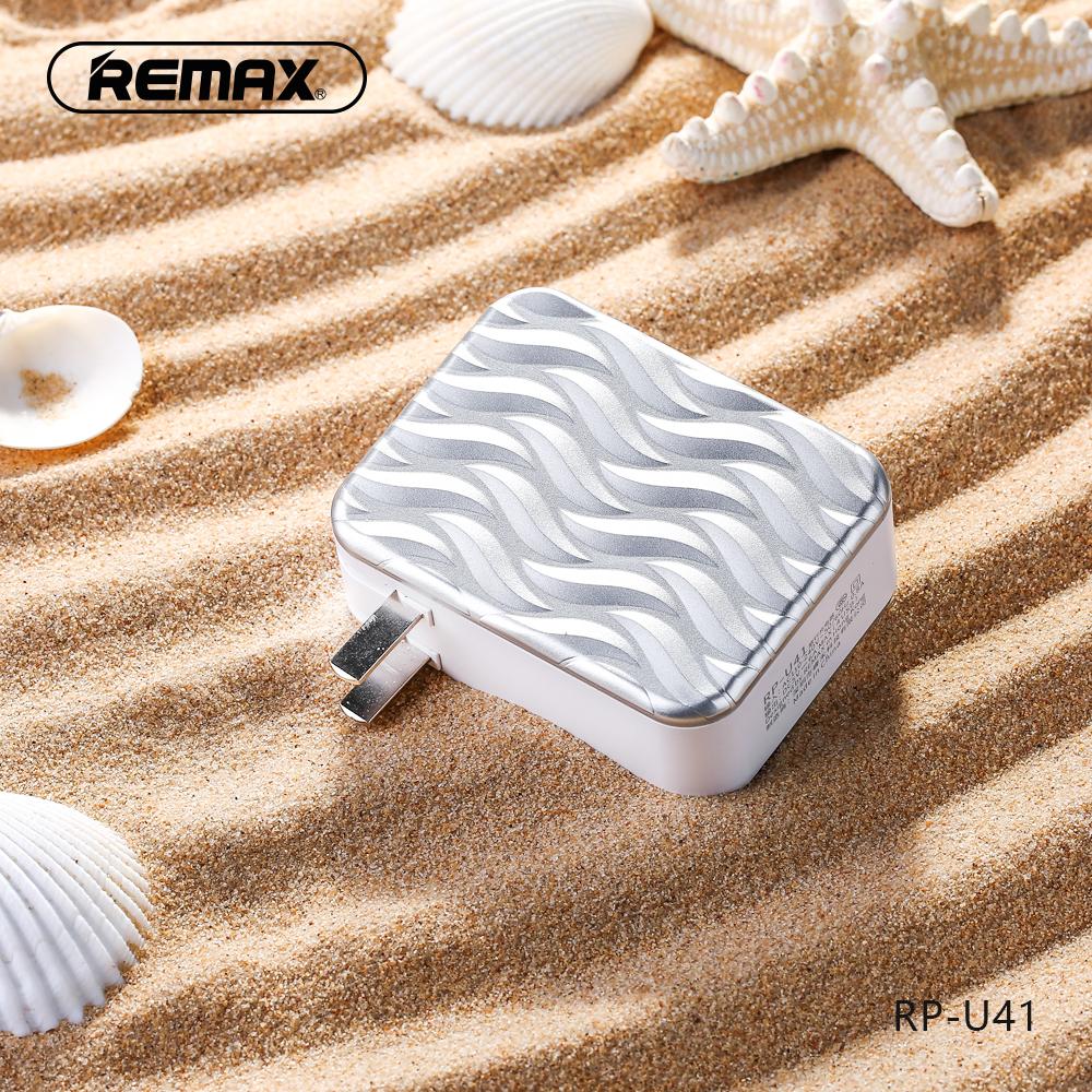 อะแดปเตอร์ remax 4USB RP-U41 สีเงิน