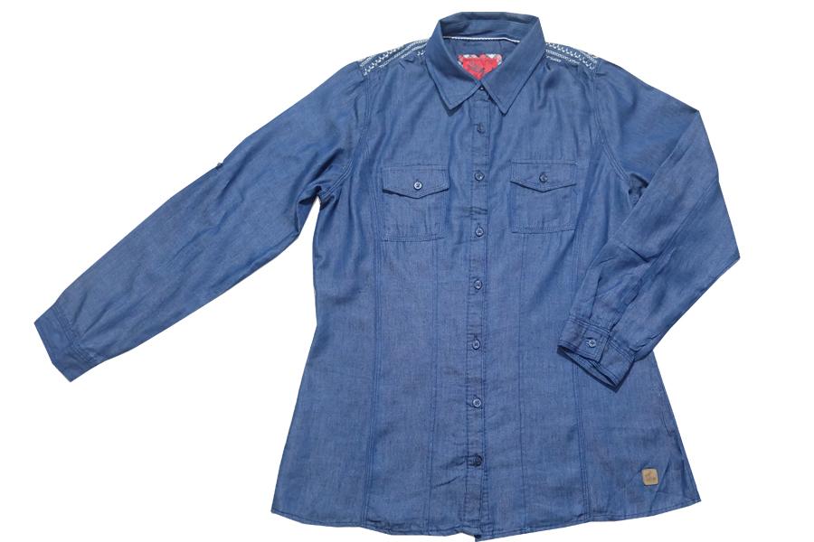 เสื้อเชิ้ตยีนส์ผ้า cotton ( 6913 S)