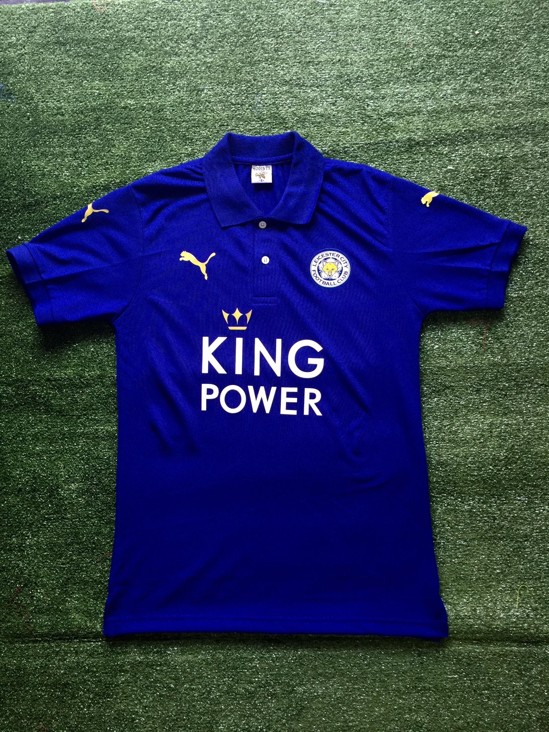 เสื้อโปโล เลสเตอร์ซิตี ลาย เดียวกับเสื้อฟุตบอล สีน้ำเงิน L9K-N