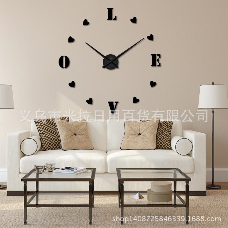 นาฬิกาDIY ขนาดจัมโบ้90cm สีเงิน big7A