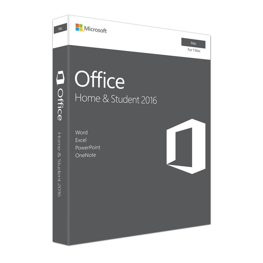 Microsoft Office Mac Home Student 2016 (GZA-00980) English APAC EM Medialess P2
