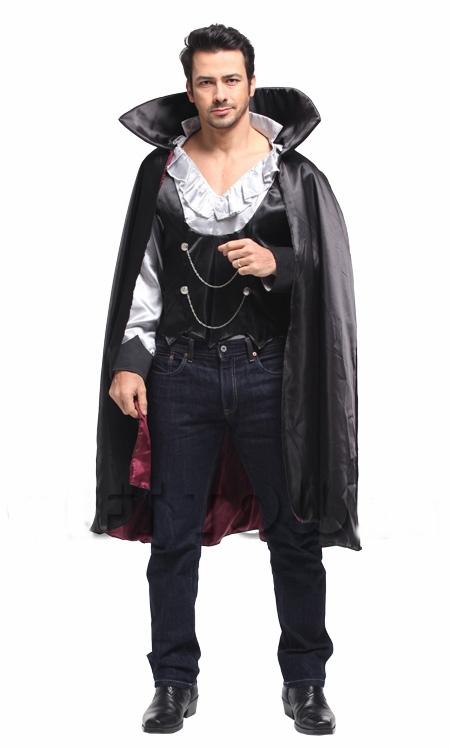 ชุดแฟนซีผู้ชาย ชุดแวมไพร์ Vampire ขนาดฟรีไซด์ (ไม่รวมกางเกงในแบบนี้)