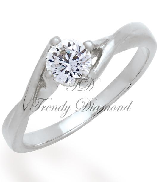 แหวนเพชรPrincess Diamond สีทองคำขาว