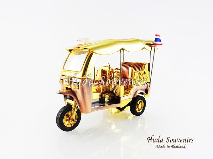 ของที่ระลึกไทย รถตุ๊กตุ๊กจำลอง สีทอง ไซส์ใหญ่ (L) สินค้าบรรจุในกล่องมาให้เรียบร้อย สินค้าพร้อมส่ง