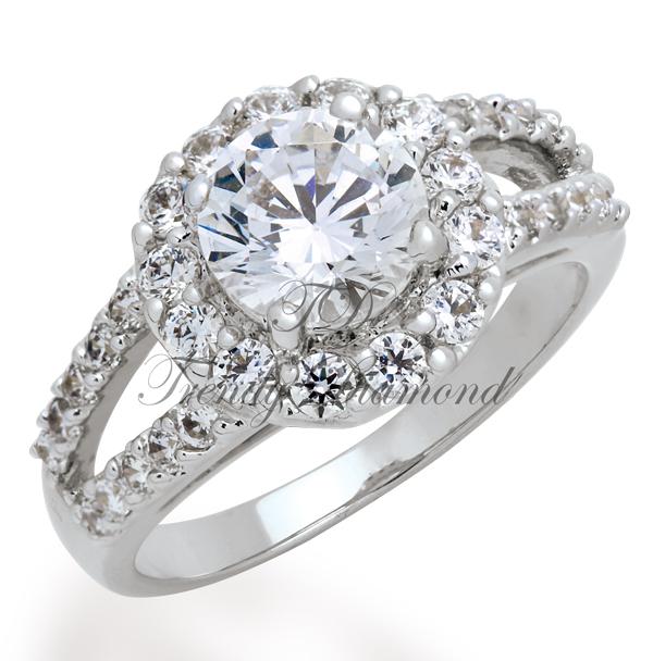 แหวนเพชร Queen of Tiffany สีทองคำขาว