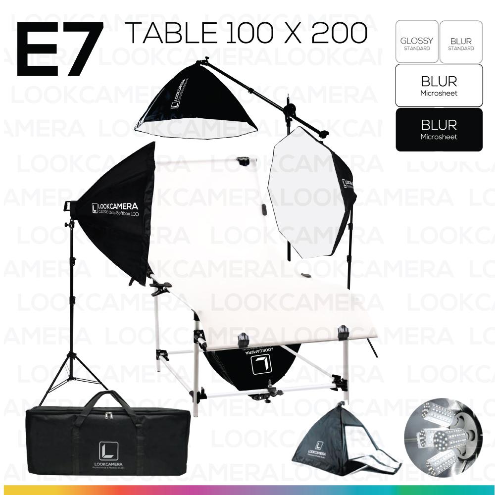 E7 STUDIO TABLE PACKSHOT โต๊ะถ่ายภาพสินค้าปรับองศา 100x200 ซม.