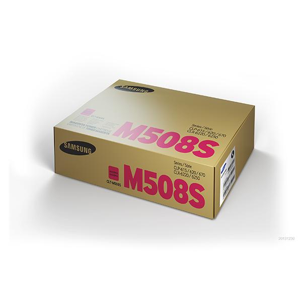 Samsung CLT-M508S ตลับหมึกโทนเนอร์ สีม่วงแดง ของแท้ Magenta Original Toner Cartridge (SU336A)