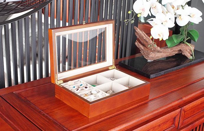 กล่องใส่แหวน ใส่เครื่องประดับ งานไม้สวยมาก