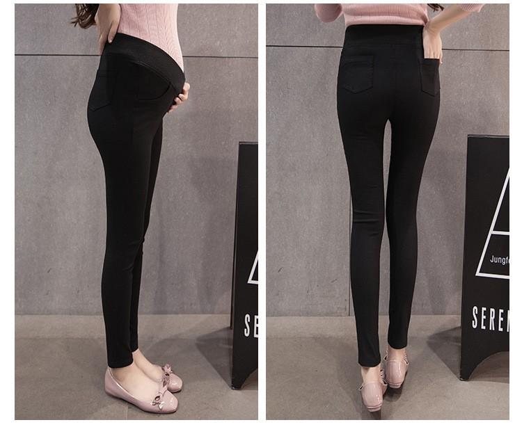 กางเกงขายาวคนท้องสีดำ เอวต่ำหลบท้อง ผ้ายืดได้ค่ะ ผ้านิ่มใส่สบายค่ะ(เอวปรับไม่ได้ค่ะ)
