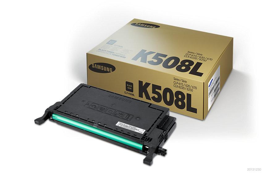Samsung CLT-K508L ตลับหมึกโทนเนอร์ สีดำ ของแท้ Black Original Toner Cartridge (SU197A)