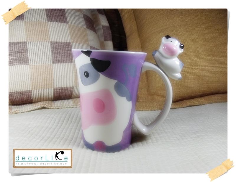 แก้วมักเซรามิคปากบาน รูปวัวนม