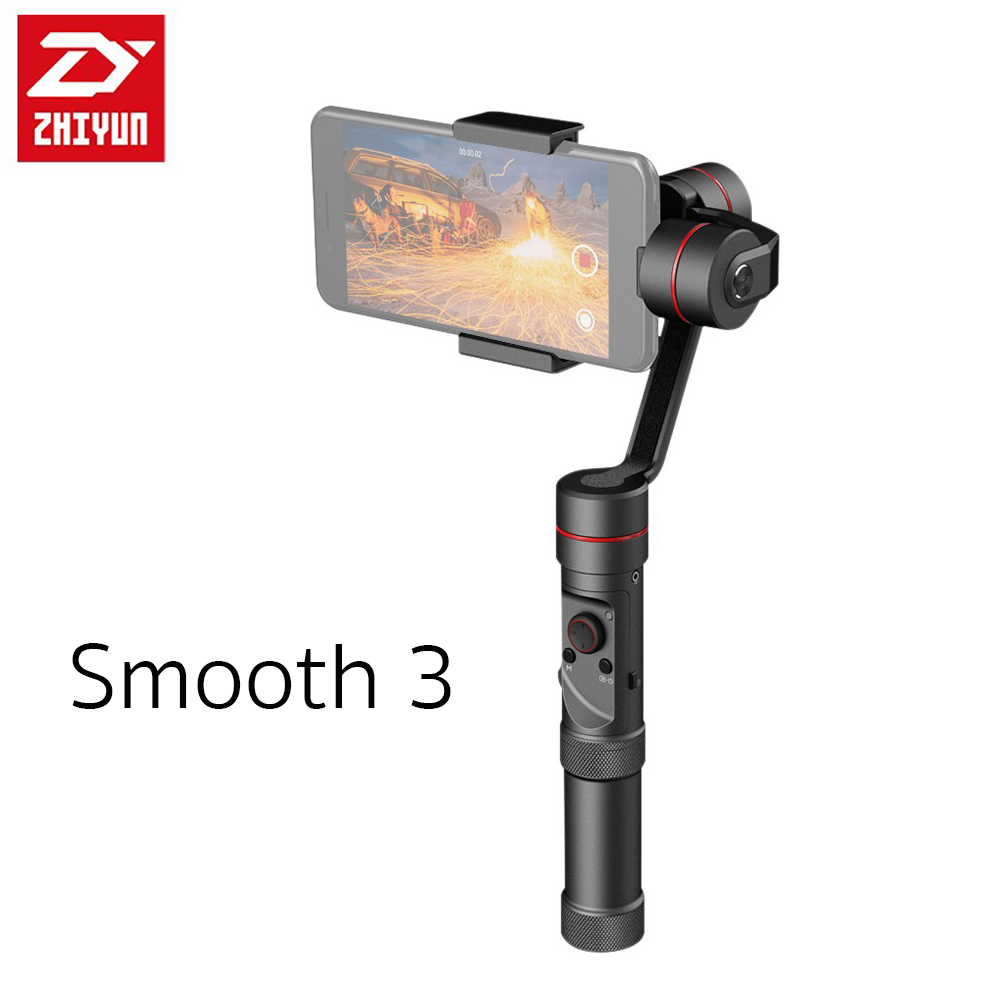 Zhiyun New Smooth III 3-axis Smartphone Brushless Stabilizer Gimbal with Bluetooth Wireless Controller for iPhone 5/ 5s/ 6 /6 Plus, Galaxy Note สำเนา