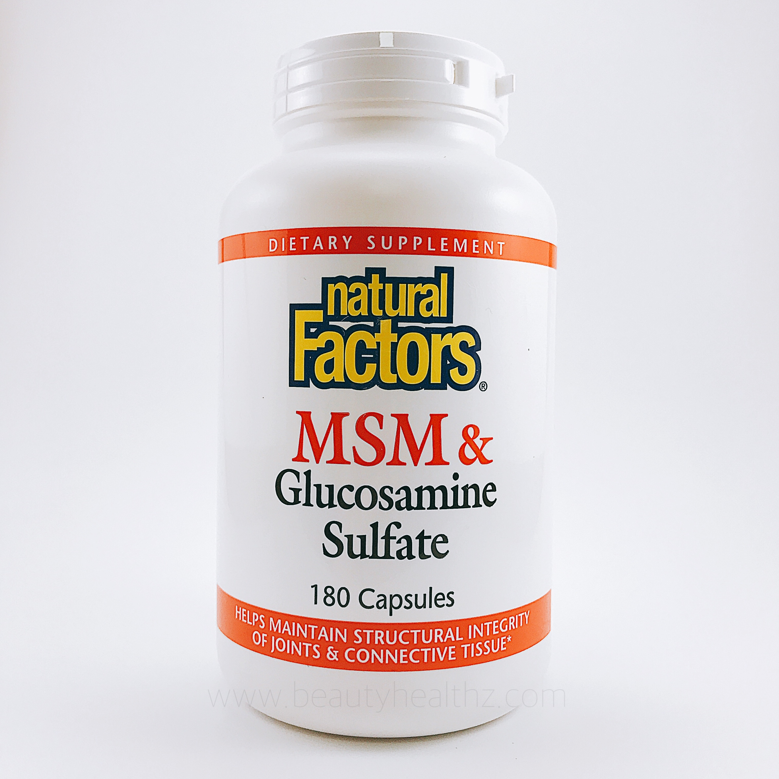 Natural Factors, MSM & Glucosamine Sulfate, 180 Capsules