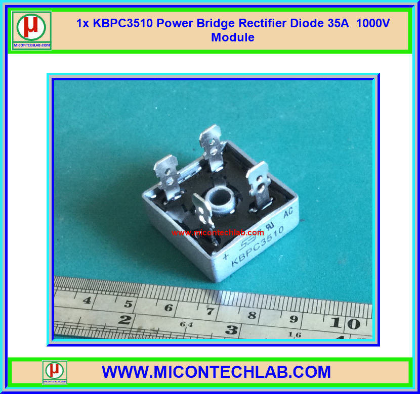 1x KBPC3510 Bridge 35A 1000V Power Bridge Rectifier Diode Module