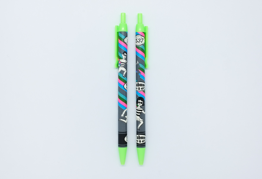 TABOM PAINTING FLUORESCENCE BALL PEN (GREEN INK)