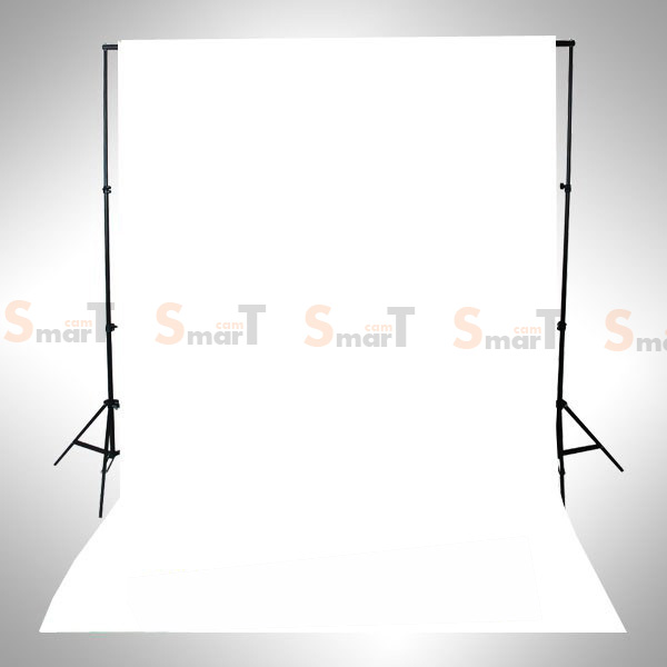 Background White Backdrop 3.2x6m. Cotton for Chromakey