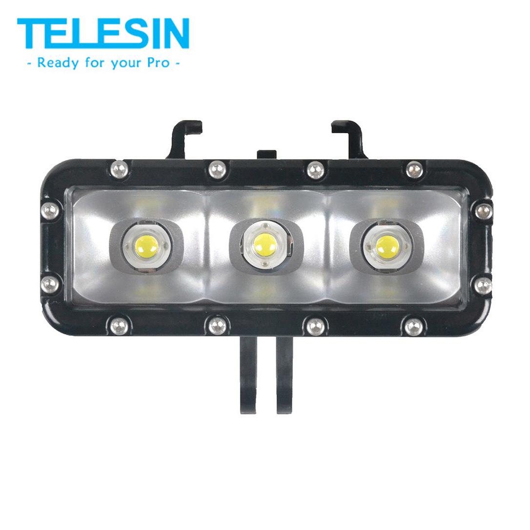 TELESIN POV 30m Dual Batteries Waterproof Diving LED Light for GoPro for Gopro Hero4 Session,4,3+,3
